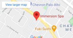 Immersion Spa + Sauna map location in Palo Alto